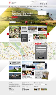 Visit Wales by Michele Bona, via Behance