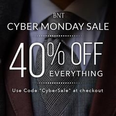 40% off EVERYTHING for Cyber Monday with promo code: CyberSale Cyber Monday Sales, Everything, Budgeting, Coding, Manual, Ties, Menswear, Style, Tie Dye Outfits