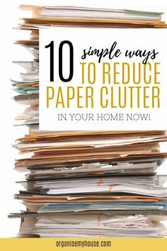 Want to know how to declutter paper piles, reduce paper clutter and get rid of the paper mountains once and for all? These top tips on how to reduce paper clutter will help you to do just that. Household Binder, Household Chores, Home Office Storage, Home Office Organization, Simple Way, Make It Simple, Organizing Paperwork, Home Management Binder, Paper Clutter