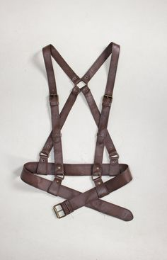 Brown leather harness Fall character leather harness от BohoMantra