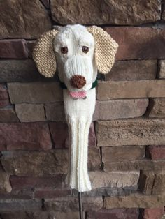 Excited to share this item from my shop: Made to order Hand knit labrador golf club cover (other colors abailable) Golf Club Covers, Pet Tags, Leather Pouch, Golf Clubs, Hand Knitting, Labrador, My Etsy Shop, Stitch, Fabric