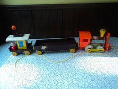 Vintage Fisher Price 168 Magnetic Chug-Chug Train by saram1978