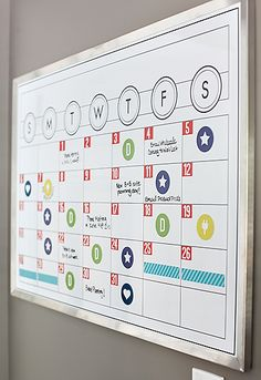 DIY At-A-Glance Office Calendar Tutorial!!