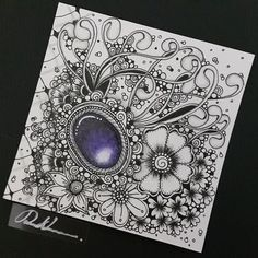 Zentangle Gems - ZIA101816. Artwork from Rebecca Kuan - #rebeccasecretbox Welcome to visit my FB Page: http://www.facebook.com/Rebecca.Zentanglebox/ #zia #zentangle #zendoodle #doodle #doodleart #draw #drawing #tangle #art #artwork #sketch #zengems #zentanglegems #gems #zentangleart #zentangleinspiration #learnzentangle #zenart #hearttangles