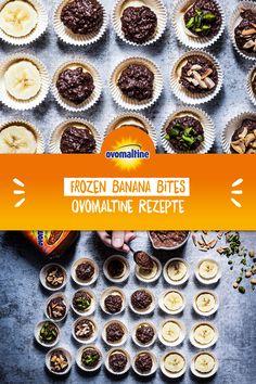 Food L, Good Food, Yummy Snacks, Healthy Snacks, Banana Snacks, Healthy Breakfast For Weight Loss, Raw Cake, Frozen Banana Bites, Food And Drink