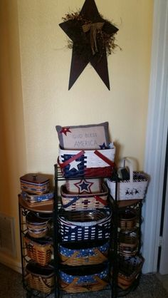 Baskets, stars and wrought iron.