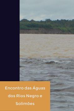 Encontro das águas dos rios Negro e Solimões, um passeio imperdível para quem vai a Manaus. Os rios correm lado a lado, sem a mistura de suas águas por 7 Km.