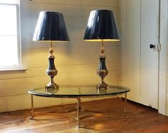 Pair Stiffel Lamps Solid Brass  Hollywood Regency Lamps by imodern, $500.00
