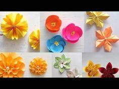 Basteln: Origami Schmetterling falten mit Papier. Bastelideen: DIY Geschenk basteln / Geschenkideen - YouTube