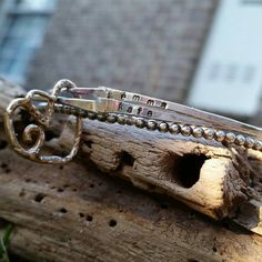 Personalized bangle bracelets, sterling silver bangle set, hand stamped bracelets, mothers bracelet, boho bracelet, hand forged silver