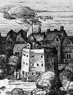 1616, The Globe Theatre at Bankside, London.