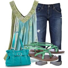 Cute Summer Look, created on Polyvore