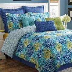 Calypso Flower Burst Comforter Bedding by Fiesta