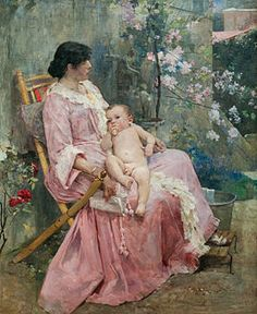 """Arturo Michelena - """"La joven madre"""", 1889"""