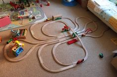 wooden track mind, layouts for trains