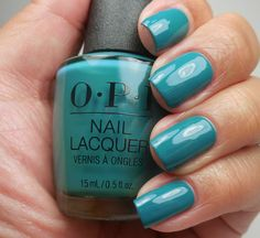 OPI: ❤️ Teal Me More, Teal Me More ❤️ ... a teal creme nail polish from the OPI Grease Collection 2018