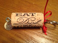 Cork keychain favors, cute for a wine theme wedding or a couple who loves them.    Found on Weddingbee.com