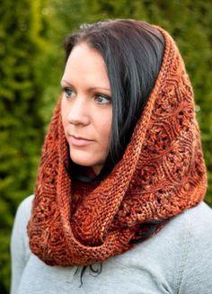 Knitting: Cabernet Infinity Scarf, Karacabutik, design, scarf, knit, tricot, tesettür, 2013, 2014, trend, fashion