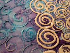 @Jana Rolston - Have you ever tried making your own batiks?  Flour Paste Batik