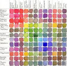 I love this. I still have charts I made for a color theory class pinned up in my studio.