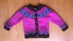 Girls lopapeysa wool sweater made from Icelandic by AstridaDesign