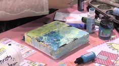 Scrap Time - Ep. 746 -- Christy Tomlinson Makes Another Canvas at CHA!