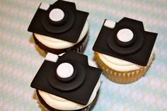 PHOTOGRAPHER CAMERAS / PICTURE Days -  Fondant Cupcake, and Cookie Toppers - 1 Dozen. $17.95, via Etsy.