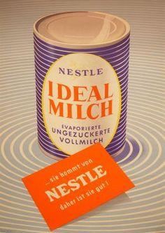 1950 Ideal Milch (Nestle), Austria vintage advert poster Vintage Advertisements, Vintage Ads, Vintage Posters, Retro Posters, Milk Advertising, Advertising Poster, Old Commercials, Vintage Graphic Design, Retro Recipes