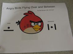 Angry Birds OVER and BETWEEN printable adapted book with sentence strip and icons - Repinned by @PediaStaff – Please Visit  ht.ly/63sNt for all our pediatric therapy pins