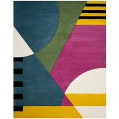 online shopping for Elliott Peacock Blue/Fuchsia Area Rug Latitude Run from top store. See new offer for Elliott Peacock Blue/Fuchsia Area Rug Latitude Run Modern Family Rooms, Modern Area Rugs, Contemporary Home Decor, Peacock Blue, Purple, Abstract Pattern, Abstract Art, Rugs Online, Rug Size