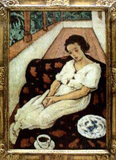 Nicolae Tonitza - Femeie in cerdac Naive Art, Art Gallery, Desktop, Album, Illustration, Matisse, Crafts, Painting, Portraits