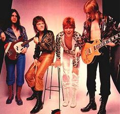 Bowie with The Spiders from Mars: Trevor Bolder, Mick Woodmansey and Mick Ronson Angela Bowie, Trevor Bolder, Spiders From Mars, Duncan Jones, Ziggy Played Guitar, Mick Ronson, David Bowie Ziggy, Bowie Starman, Just Deal With It