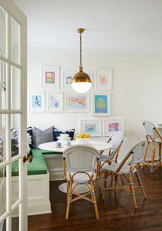 Breakfast Nook Bistro Chairs via Amie Corley Interiors