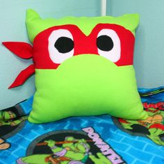 Ninja Turtle Pillow front