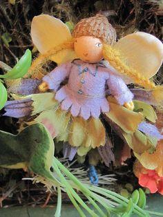 """Blossom Fairies from Salley Mavor's """"Felt Wee Folk"""""""
