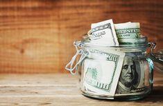 bills in glass jar. Saving money and finance concept. royalty-free stock photoDollar bills in glass jar. Saving money and finance concept. Ways To Save Money, Money Tips, Money Saving Tips, How To Make Money, Saving Ideas, Bullet Journal Budget, Preparing For Retirement, Retirement Savings, Retirement Funny