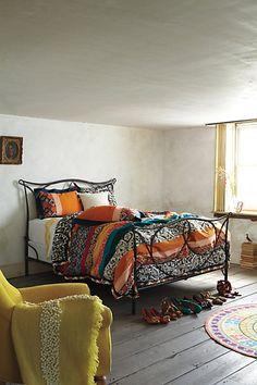 Bedroom. #comforter #colorful living
