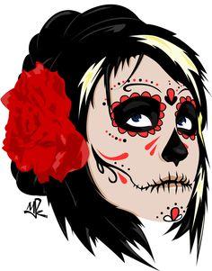 Dia De Los Muertos Girl Drawings - Tips Cara Merawat