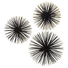 Sea Urchin Ornamental Wall Decor. Would love these hanging from the ceiling. Maybe can find some cheap and spray paint silver or white