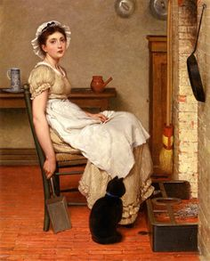 View Her first place by George Dunlop Leslie on artnet. Browse upcoming and past auction lots by George Dunlop Leslie. Illustrations Harry Potter, Victorian Paintings, Vintage Paintings, Victorian Artwork, Vintage Artwork, Photo Chat, Portraits, Portrait Paintings, Cat Paintings