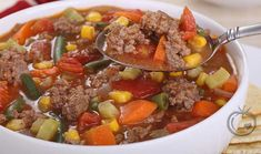 Hamburger Soup Recipe With Pasta.Quick And Easy Hamburger Soup SimplyRecipes Com. Best Ever Beef And Cabbage Soup The Recipe Critic. One Pot Beefy Tomato Tortellini Soup Easy Peasy Meals. Home and Family Slow Cooker Recipes, Crockpot Recipes, Cooking Recipes, Kitchen Recipes, Easy Soup Recipes, Healthy Recipes, Healthy Soup, Healthy Meals, Recipes On A Budget