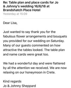 The thank yous & reviews are rolling in thick and fast we really appreciate you taking the time to thank us  #kentbrides #kentflorist #weddingfloristkent #flowersandsparkle #sittingbourneflorist #handpickedhotels #brandshatchplace #review #thankyou  #appreciationpost #proud #dreamteam #teamsparkle