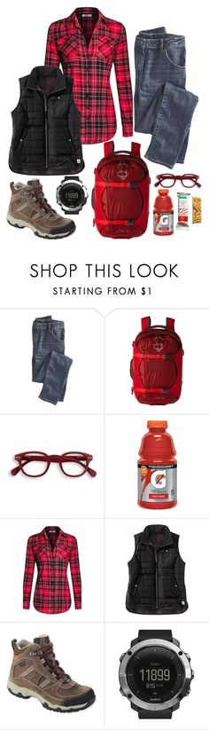 """""""Untitled #3145"""" by mountain-girl-lynn ❤ liked on Polyvore featuring Wrap, Osprey, Izipizi, Gatorade, Carhartt, L.L.Bean and Suunto"""