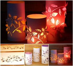 Creative Ideas - DIY Beautiful Dimensional Flower Paper Lanterns | iCreativeIdeas.com