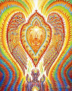 Psychedelic Art, Alex Grey Paintings, Art Abstrait Gris, Art Gris, Alex Gray Art, Art Visionnaire, Grey Abstract Art, Psy Art, Visionary Art