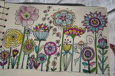 doodles for rain barrel Flower Doodles, Doodles Zentangles, Art Drawings, Doodle Art, Flower Drawing, Zentangle Patterns, Art Journal, Doodle Art Journals, Doodle Art Flowers