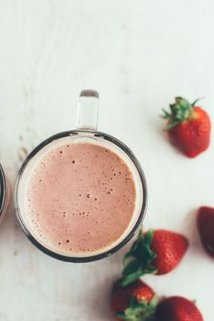 strawberry-basil smoothie | the vanilla bean blog for wit & delight