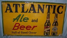 Vintage Atlantic Ale and Beer Sign