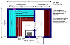 Sauna Planning - Free Sauna Plans and Layouts