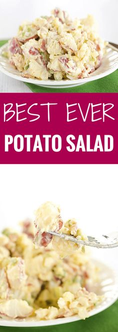 The BEST EVER Potato Salad recipe from a friend's grandmother, with a special secret ingredient in the dressing! It converted me from being a potato salad hater to a potato salad lover!